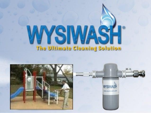 Wysiwash and playground equipment