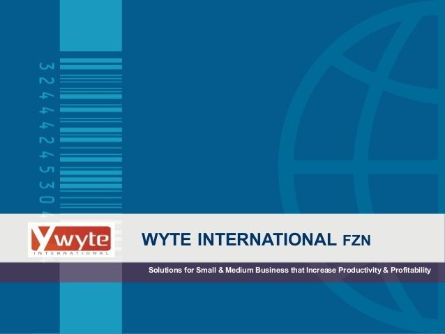 WYTE INTERNATIONAL FZN Solutions for Small & Medium Business that Increase Productivity & Profitability