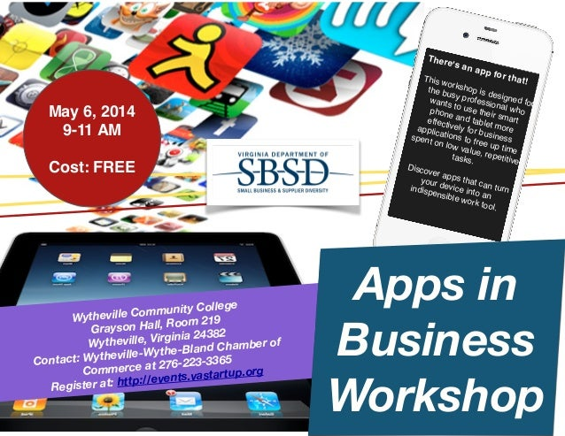 Wythe Apps in Business Workshop, May 6, 2014