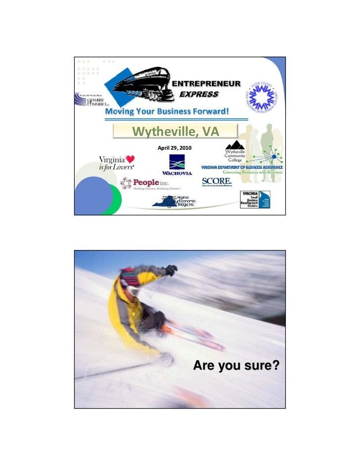 Wythe EE#3 presentation, April 29, 2010