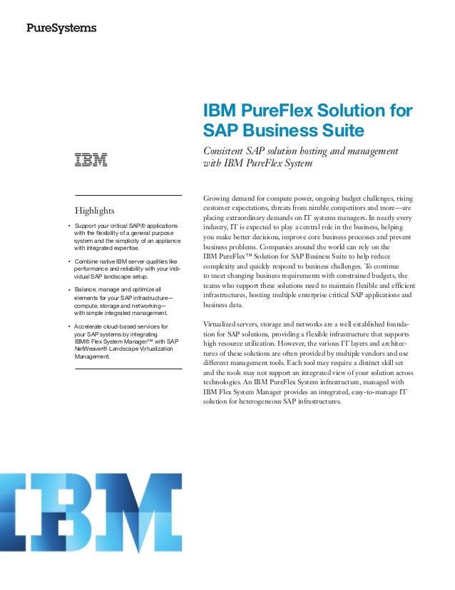 IBM PureFlex Solution for SAP Business Suite