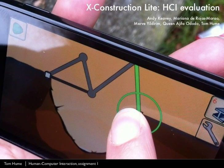 X-Construction Lite: HCI Evaluation