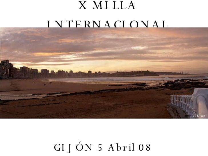X Milla Internacional masculina Gijón 2008