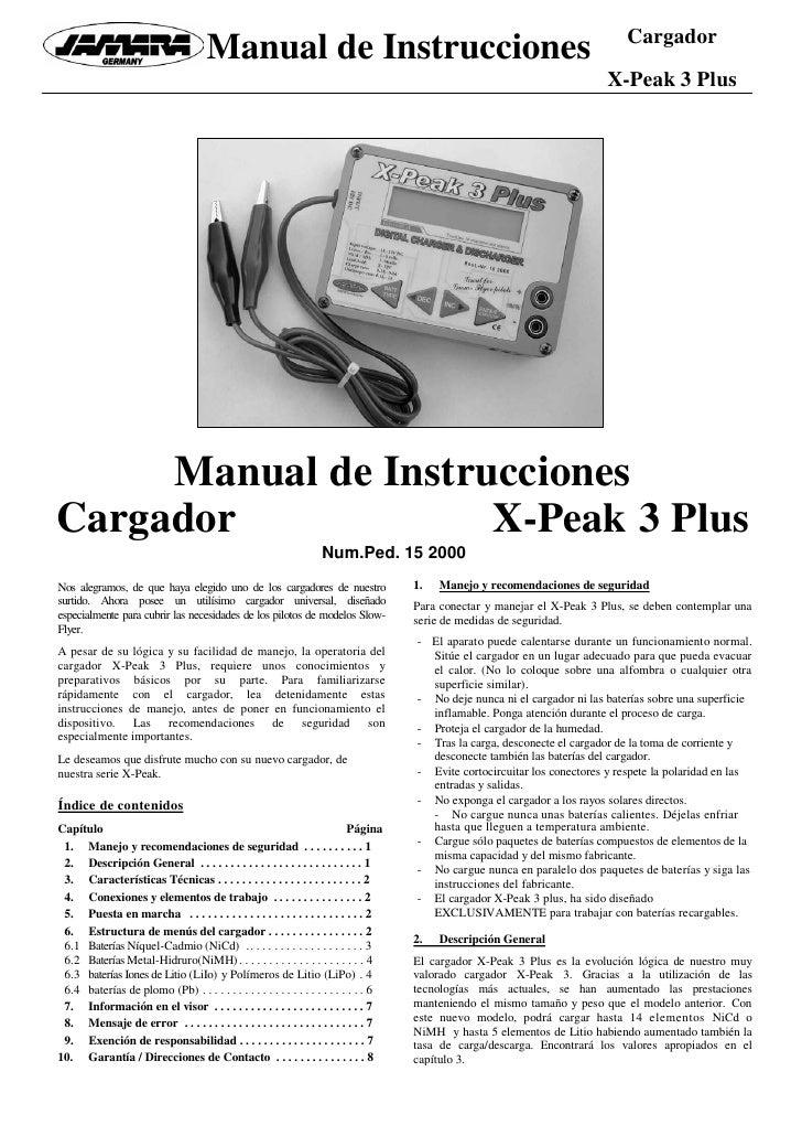 Cargador                                      Manual de Instrucciones                                                     ...