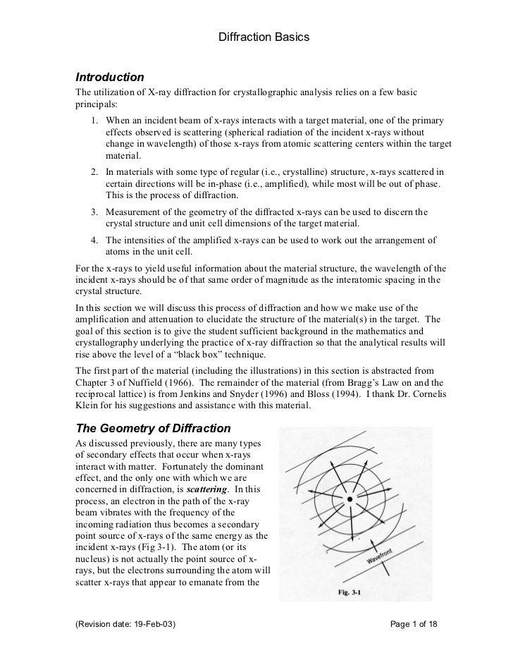 X ray diffraction basics
