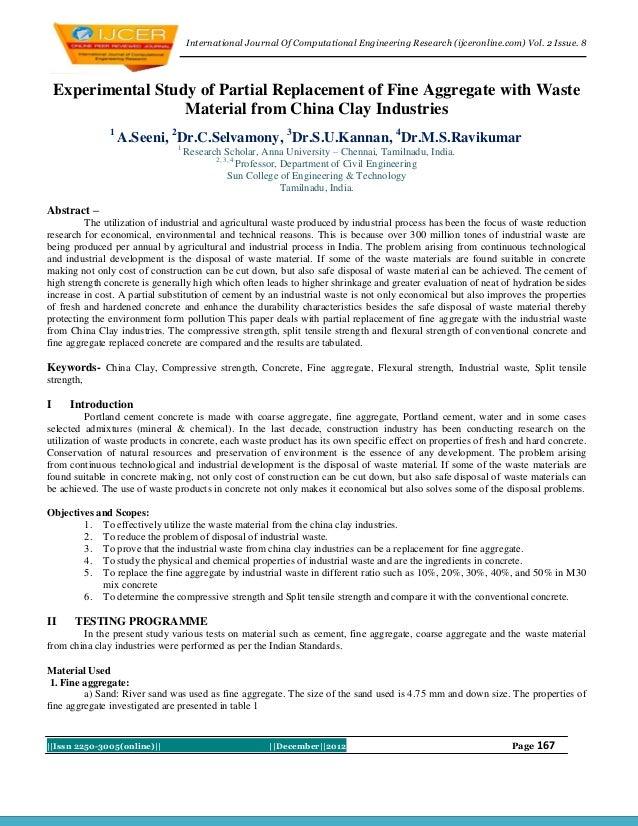 International Journal Of Computational Engineering Research (ijceronline.com) Vol. 2 Issue. 8    Experimental Study of Par...