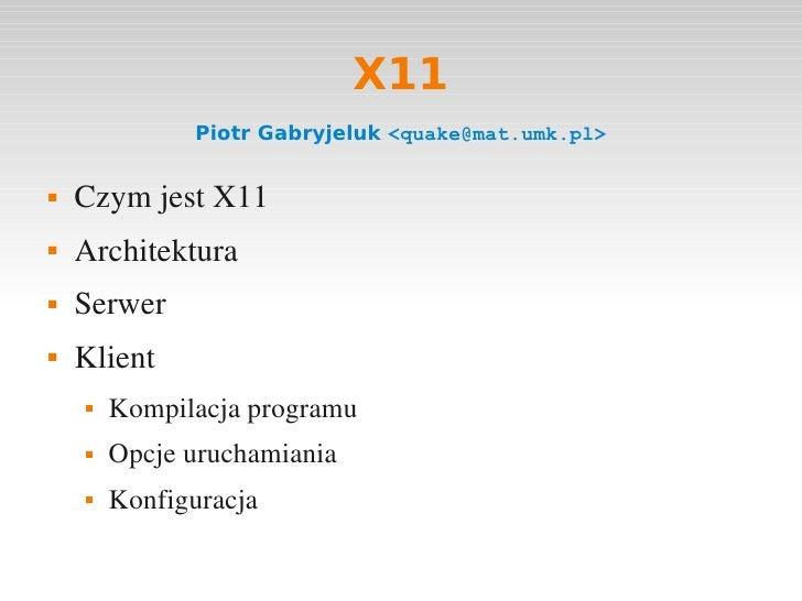 Prezentacja o X11