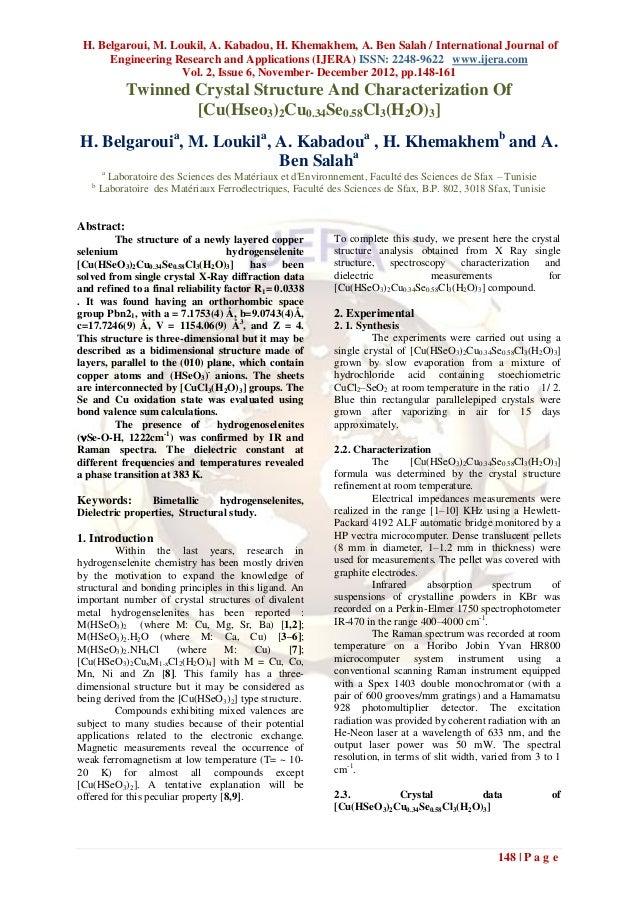 H. Belgaroui, M. Loukil, A. Kabadou, H. Khemakhem, A. Ben Salah / International Journal of      Engineering Research and A...