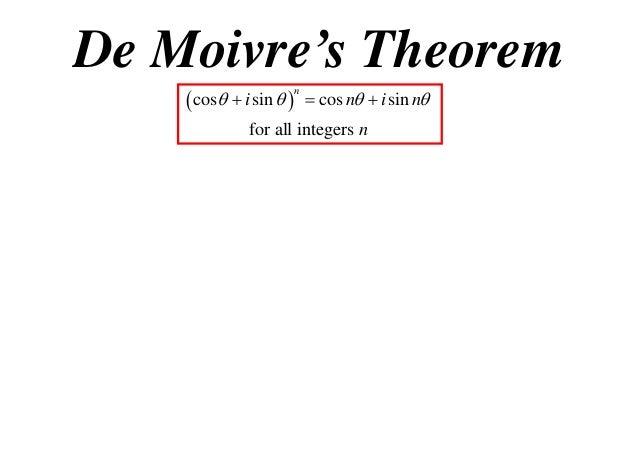 x2 t01 09 de moivres theorem. Black Bedroom Furniture Sets. Home Design Ideas