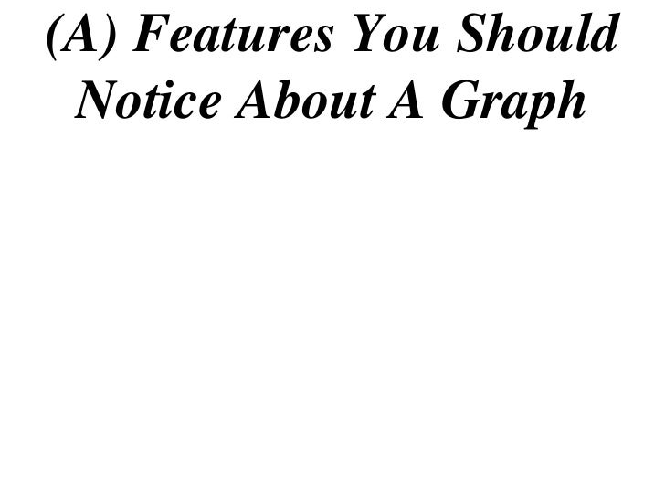(A) Features You Should  Notice About A Graph