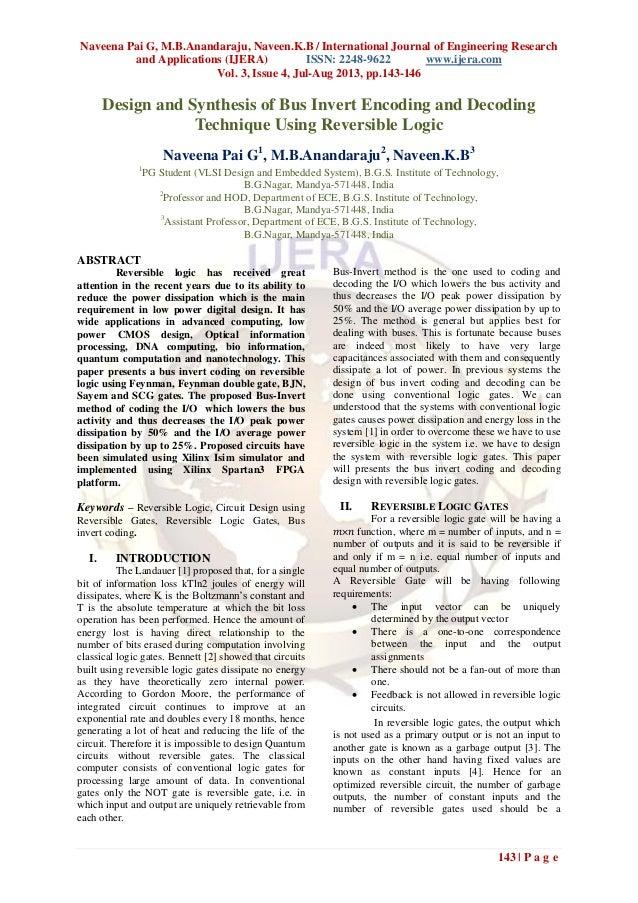 Naveena Pai G, M.B.Anandaraju, Naveen.K.B / International Journal of Engineering Research and Applications (IJERA) ISSN: 2...
