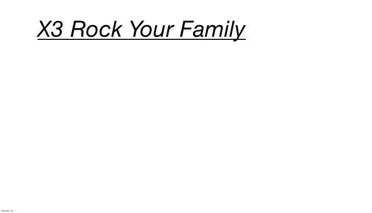 X3 Rock Your FamilyJanuary 14