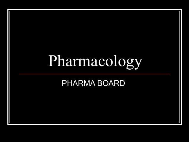 Pharmacology PHARMA BOARD