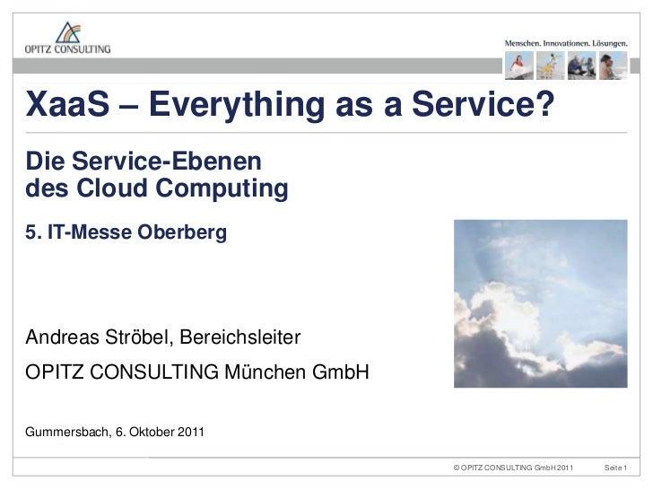 5. IT-Messe Oberberg<br />Andreas Ströbel, Bereichsleiter<br />OPITZ CONSULTING München GmbH<br />Die Service-Ebenendes Cl...