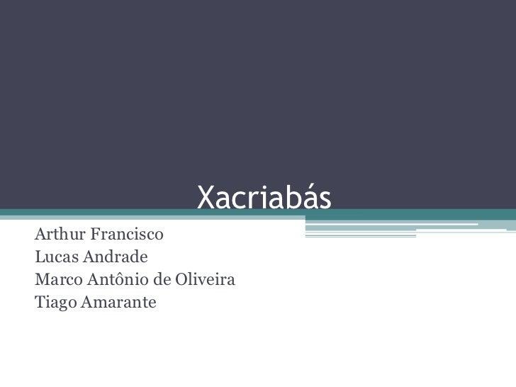 Xacriabás<br />Arthur Francisco<br />Lucas Andrade<br />Marco Antônio de Oliveira<br />Tiago Amarante<br />