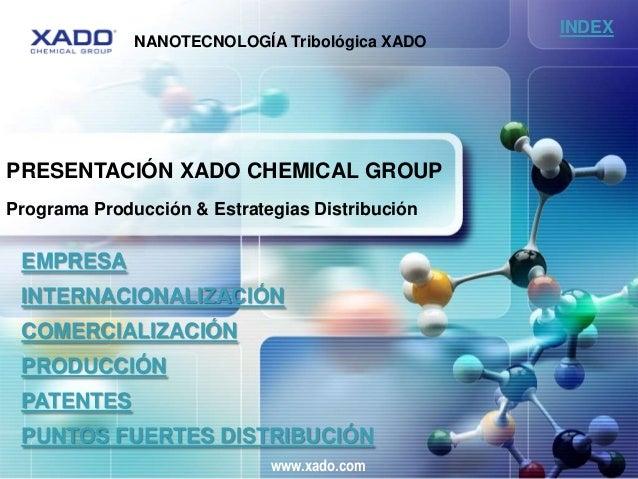 INDEX              NANOTECNOLOGÍA Tribológica XADOPRESENTACIÓN XADO CHEMICAL GROUPPrograma Producción & Estrategias Distri...