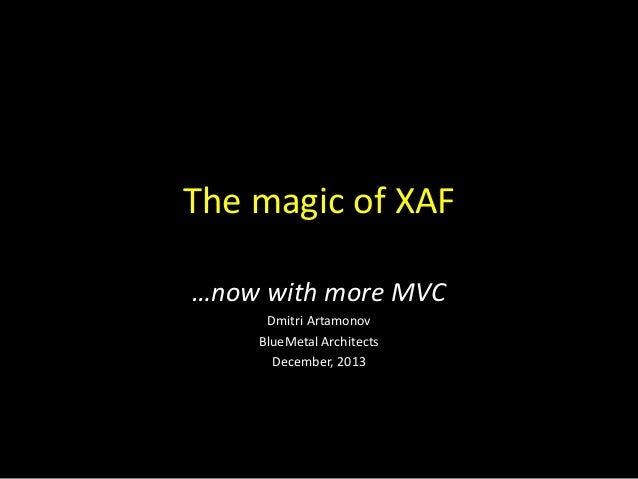 XAF and DevExtreme frameworks by DevExpress
