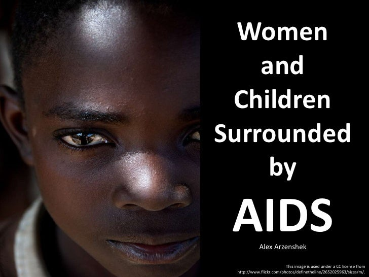 Women and Children Surrounded by AIDS