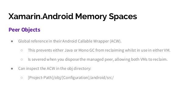 xamarin android memory management gotchas