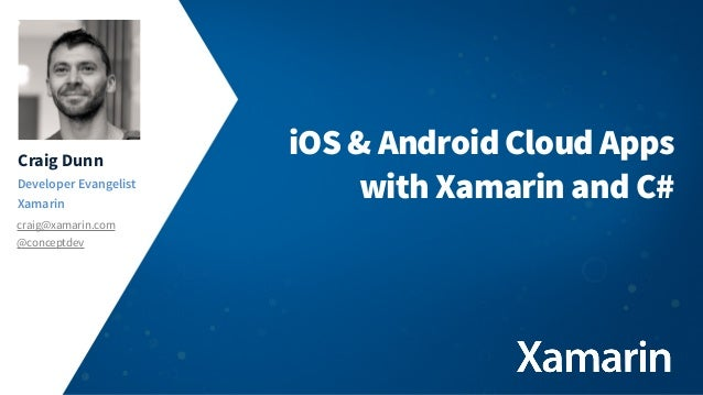 iOS & Android apps using Parse and Xamarin