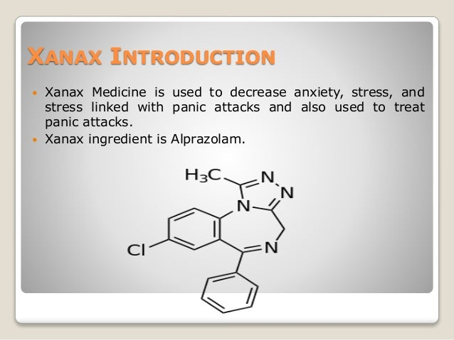 what is xanax medication