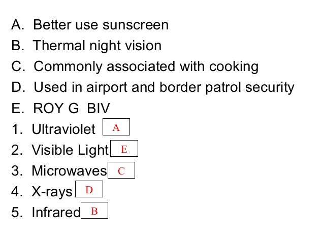 A. Better use sunscreen B. Thermal night vision C. Commonly associated with cooking D. Used in airport and border patrol s...