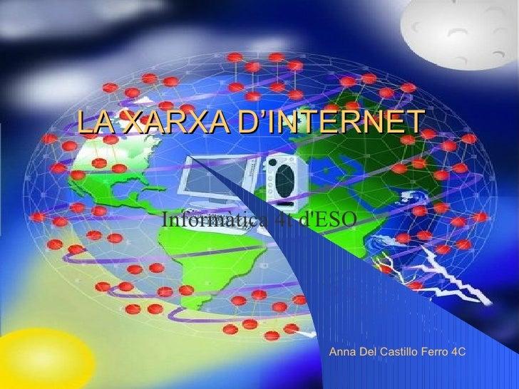 LA XARXA D'INTERNET Informàtica 4t d'ESO Anna Del Castillo Ferro 4C