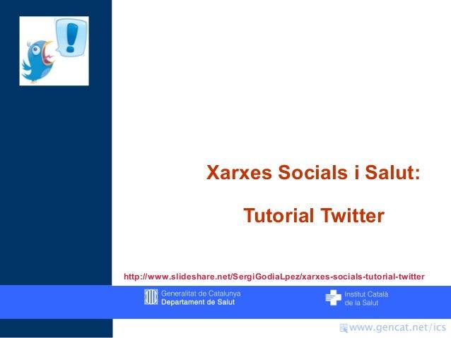 Xarxes Socials: Tutorial Twitter 2012
