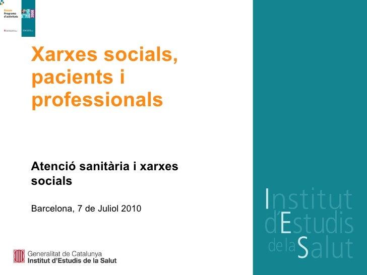 Xarxes socials, pacients i professionals