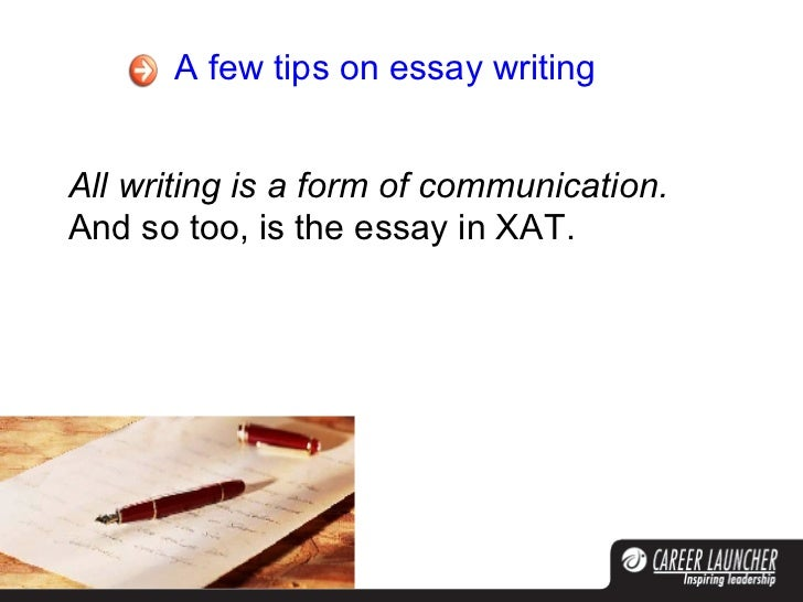 Writing an admission essay xat