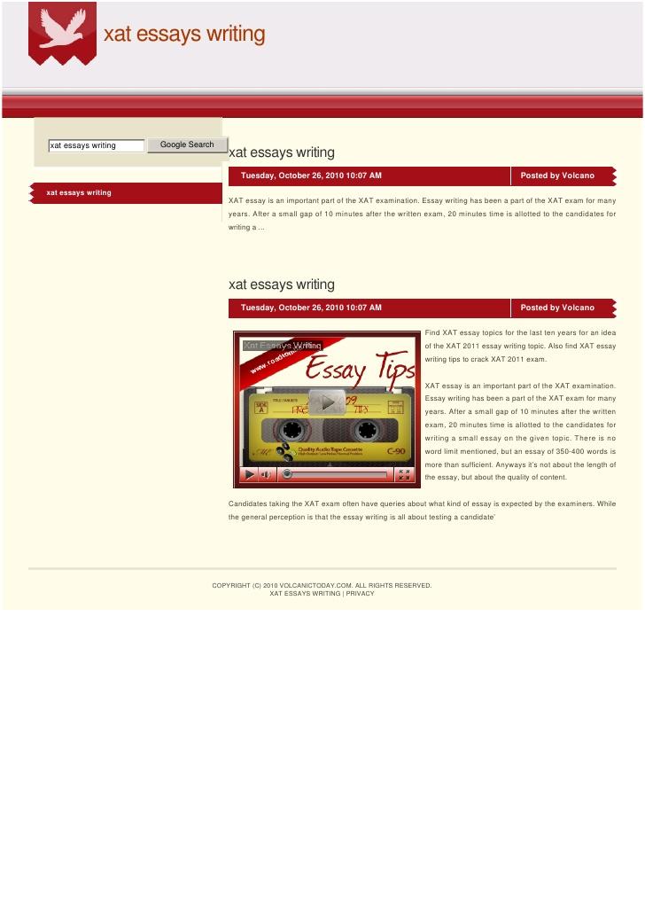 XAT 2014 Essay Writing Online Training