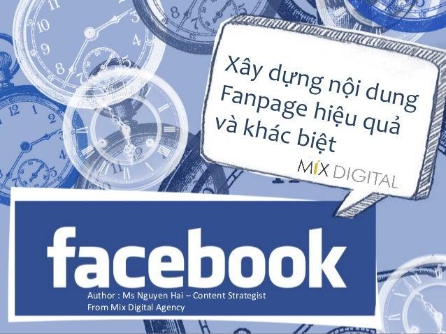 Xây dựng nội dung fanpage facebook tối ưu và hiệu quả