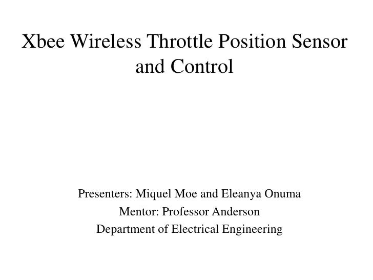 Xbee Wireless Throttle Position Sensor  And Control