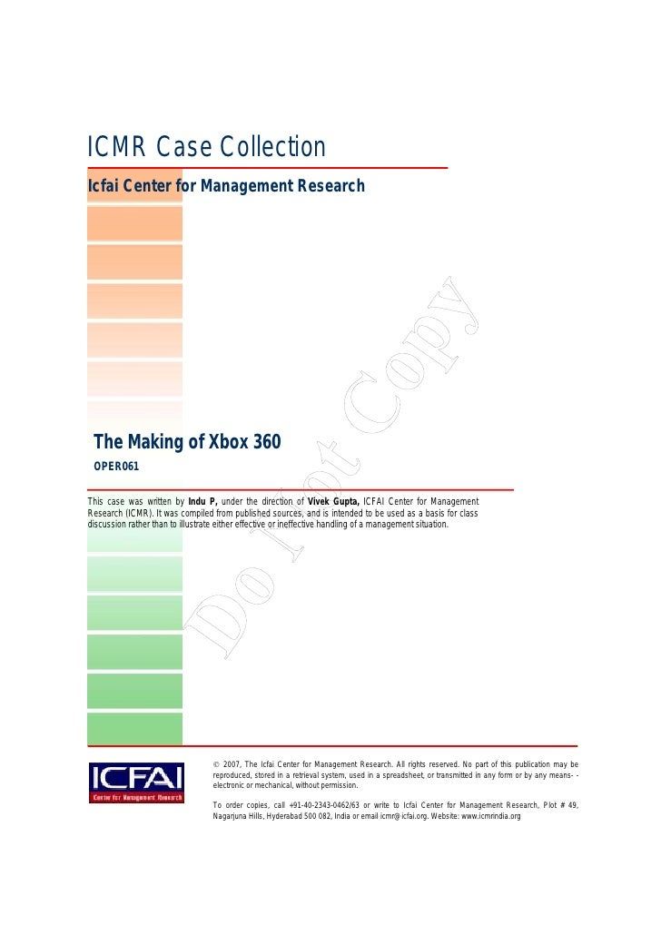 ICMR Case Collection Icfai Center for Management Research                                                                 ...