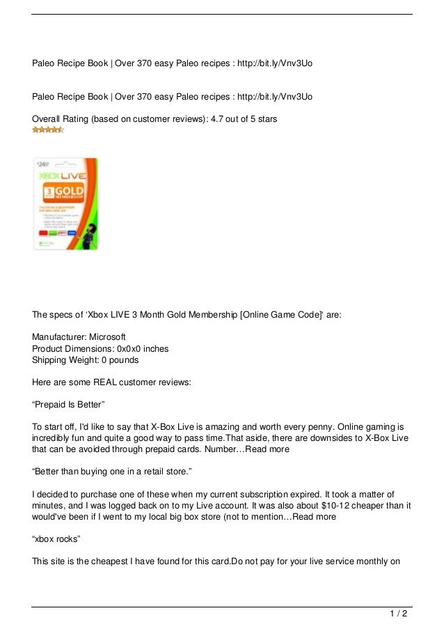 Xbox LIVE 3 Month Gold Membership [Online Game Code] cheap ...