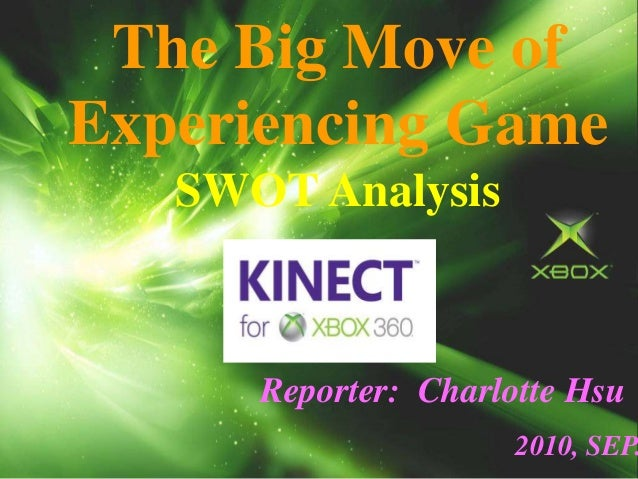The Big Move of Experiencing Game SWOT Analysis Reporter: Charlotte Hsu 2010, SEP.
