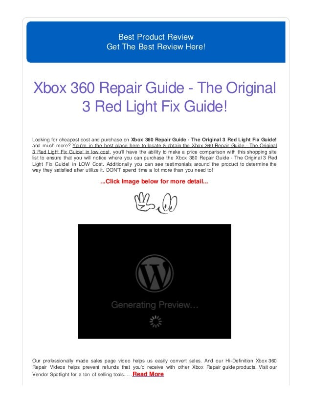 Xbox  Red Ring Of Death Fix Free Guide