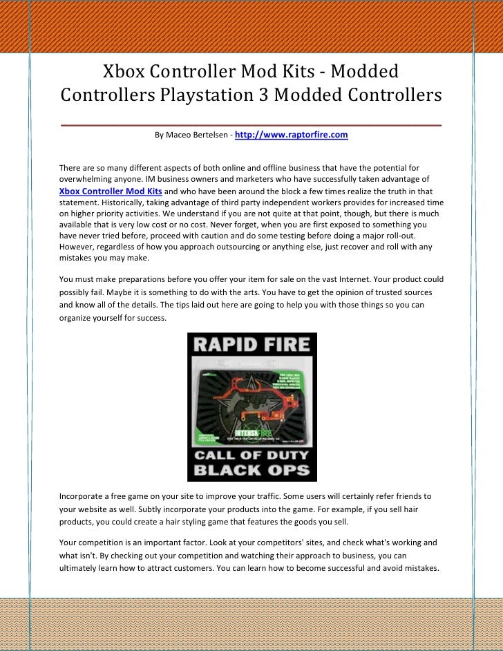 Xbox Controller Mod Kits - ModdedControllers Playstation 3 Modded Controllers_____________________________________________...