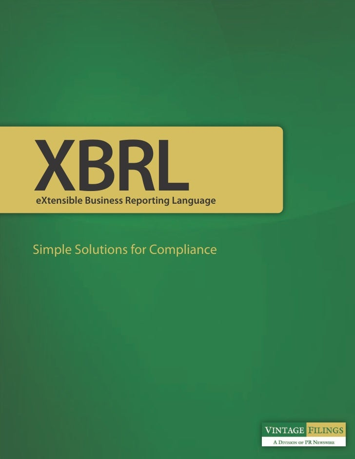 XBRL an Vintage FIlings