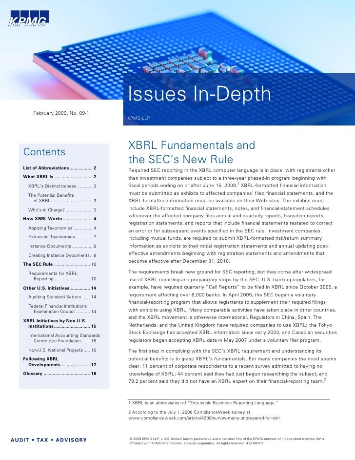 KPMG's Guide to XBRL Fundamentals