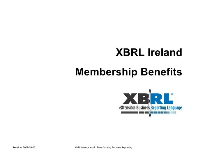 XBRL Ireland Membership Benefits
