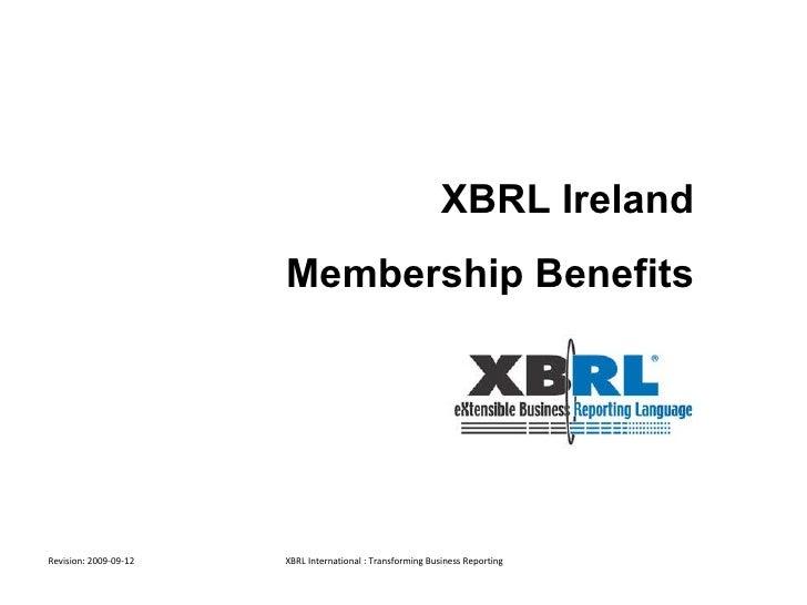 XBRL Membership Benefits