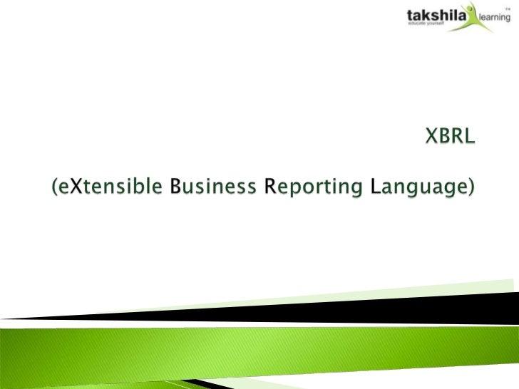 XBRL Training Programme