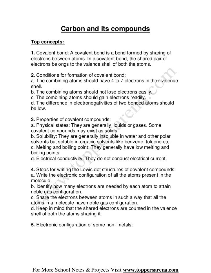 X chemistry full notes chapter 4