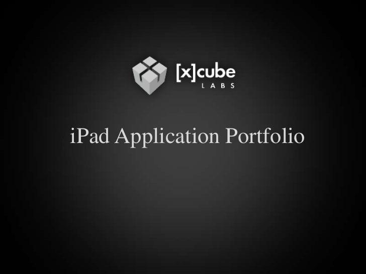 iPad Application Portfolio<br />