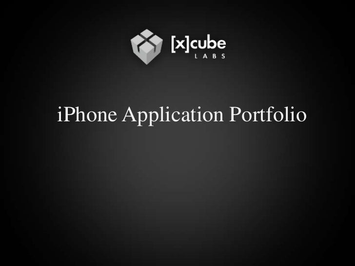 iPhone Application Portfolio<br />