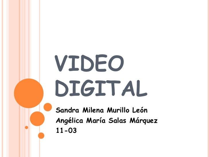 VIDEODIGITALSandra Milena Murillo LeónAngélica María Salas Márquez11-03