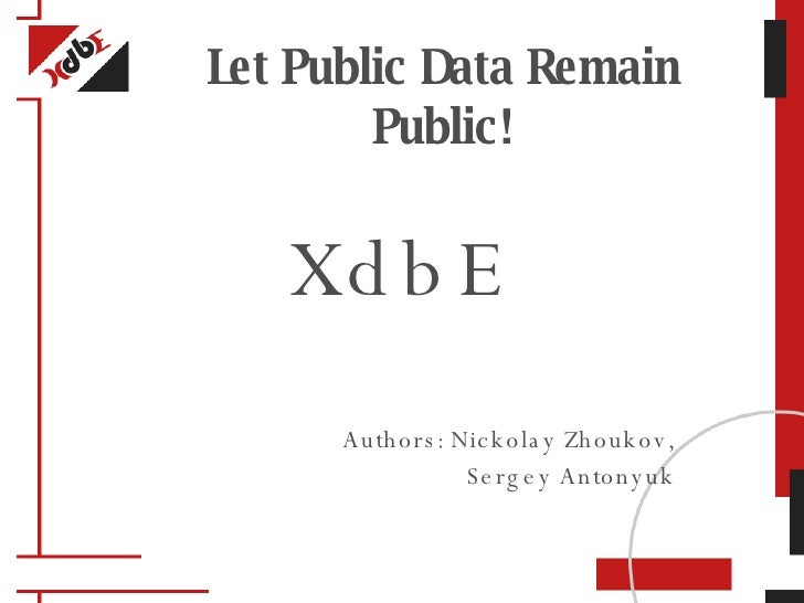 XdbE - Global Social Graphing