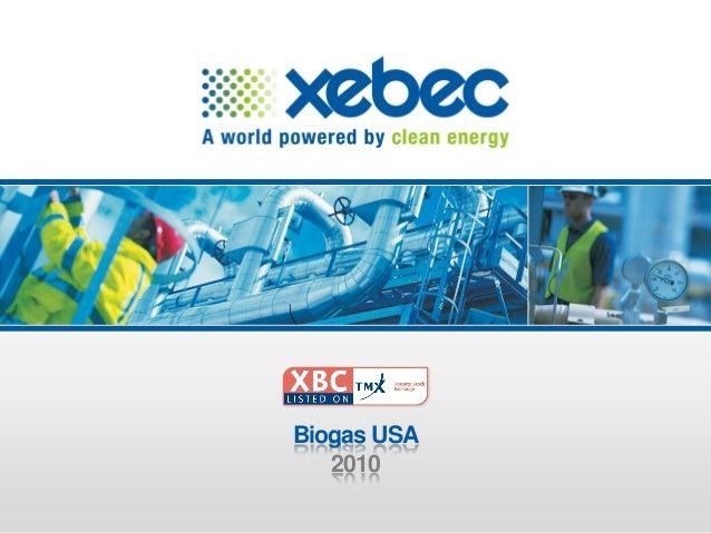 Xebec Biogas 2010 Presentation