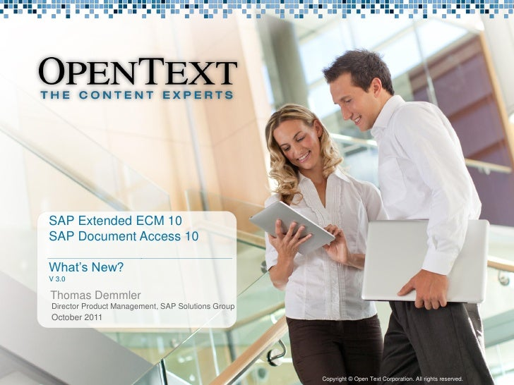 SAP Extended ECM by OpenText 10.0 - What's New?